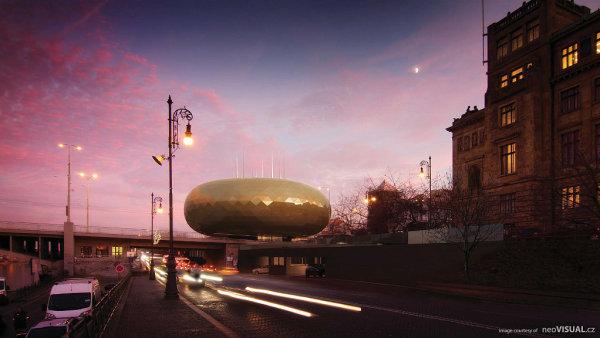 Na snímku je návrh pavilonu Slovanské epopeje v Praze.