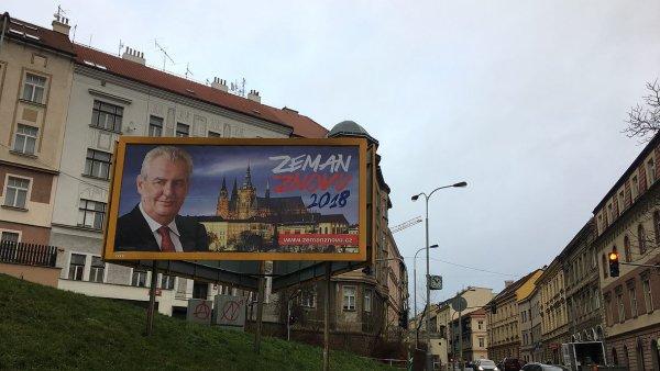 Billboardy Miloše Zemana.