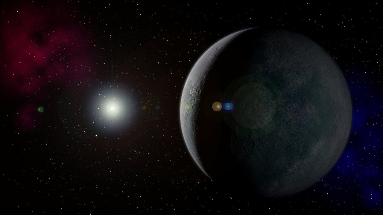 Umělecké ztvárnění deváté planety.