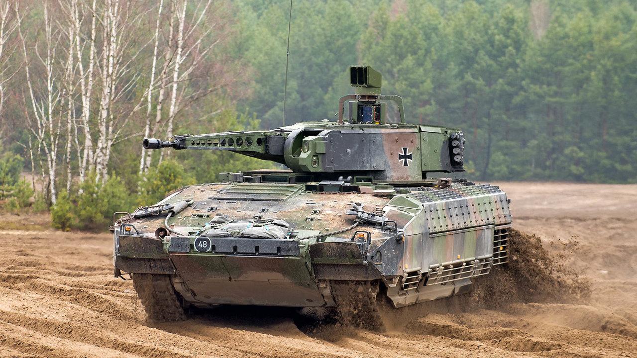 Bojové vozidlo pěchoty Puma je jedním ze čtyř, která se ucházejí opřízeň českých vojáků vtendru za53 miliard korun.