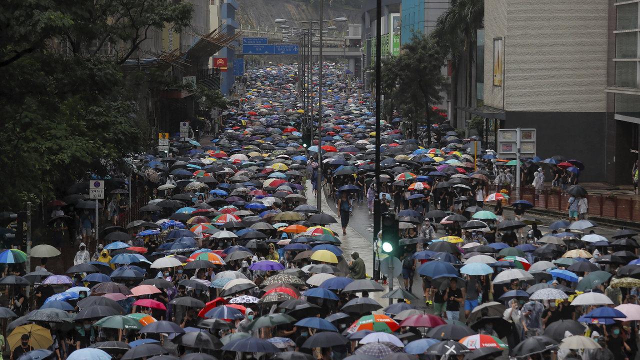 Deštníky jsou již několik let nejviditelnějším symbolem hongkongského prodemokratického hnutí.
