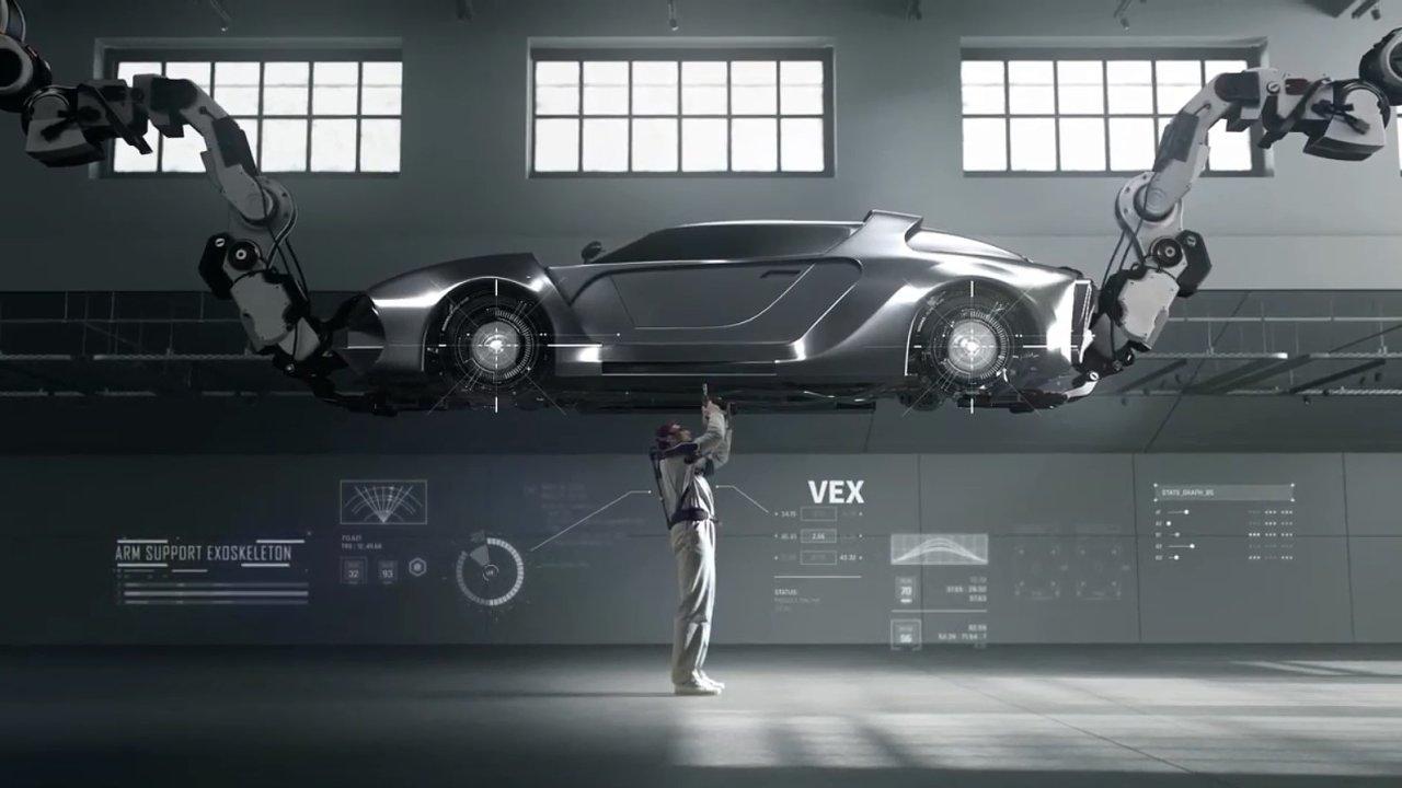 Nový nositelný průmyslový robot VEX (Vest Exoskeleton)