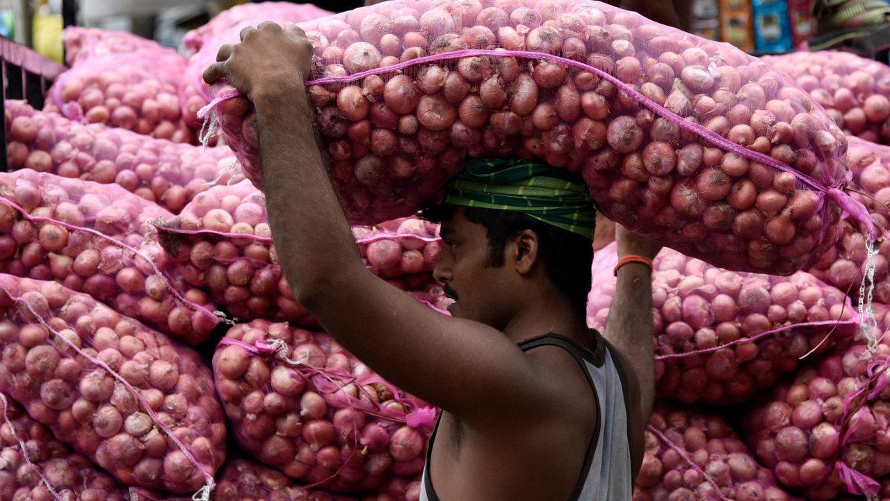 Chudší Indové jsou závislí na zelenině a především na cibuli. Proto je nárůst její ceny tak nebezpečný.