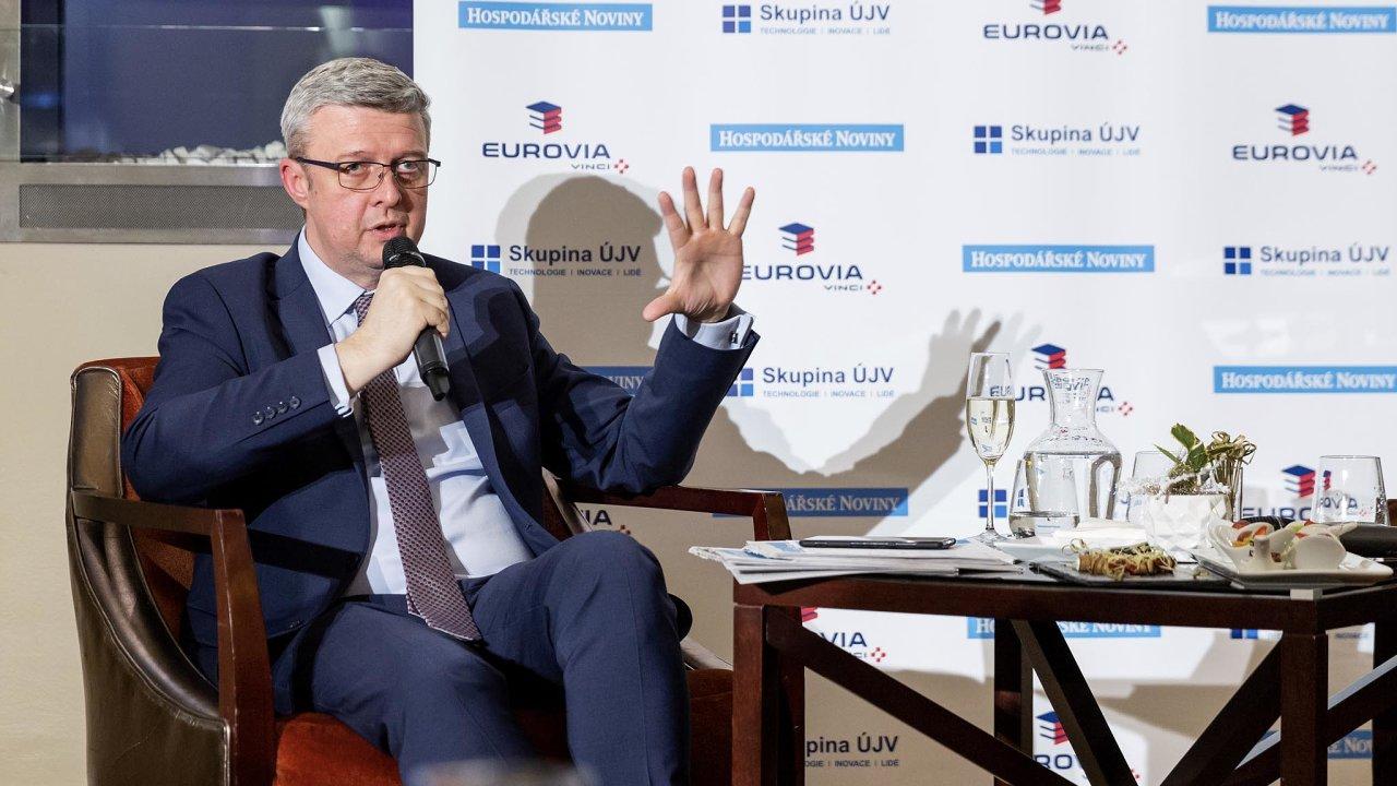 Ministr Karel Havlíček řešil naFóru HN hlavně české jádro auhlí.