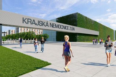 Hejtmanův plán.Nová krajská nemocnice veZlíně by se mohla začít stavět zadva roky, má mít 900 lůžek.