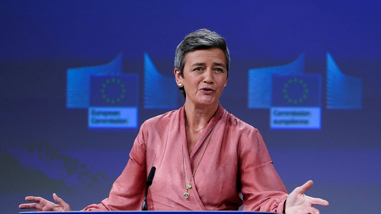 Výkonná místopředsedkyně komise Margrethe Vestagerová.