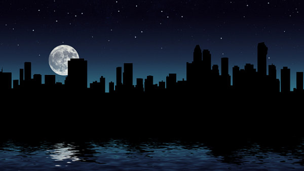 Výpadek elektřiny, blackout, město, ilustrační foto.