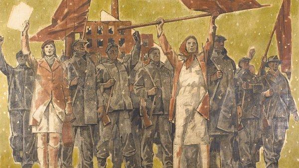 Monumentální obraz Adolfa Zábranského Únor 1948 je  ze 70.–80. let. Sloužil jako předloha ke gobelínu asběratel ho koupil vpražských starožitnostech.