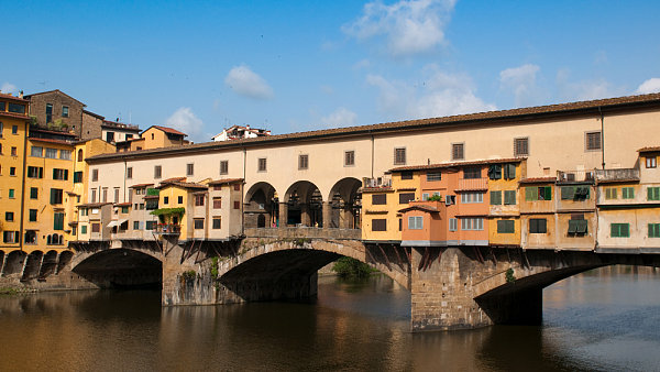 Starý most (Ponte Vecchio), Florencie, Itálie