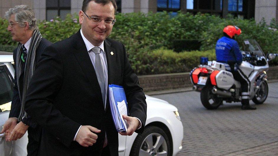 Premiér Petr Nečas v Bruselu