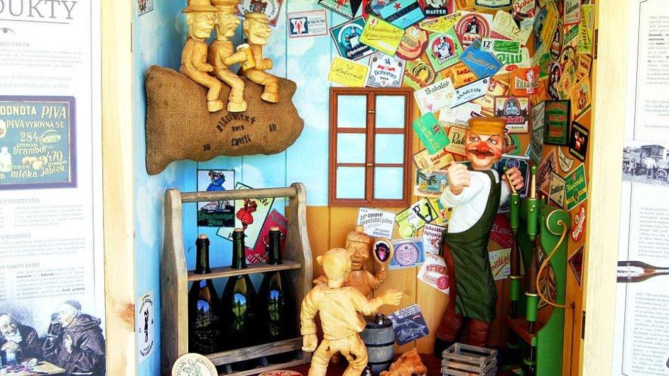 Mobilní pivní stezka Libora Daenemarka není nikde nastálo, instaluje se při různých slavnostech.
