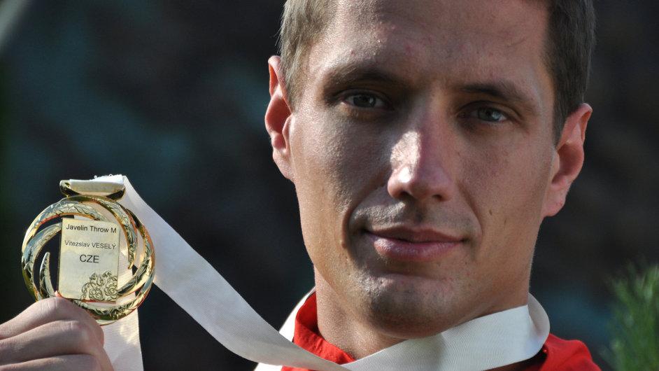 Vítězslav Veselý si Moskvy dovezl zlatou medaili.