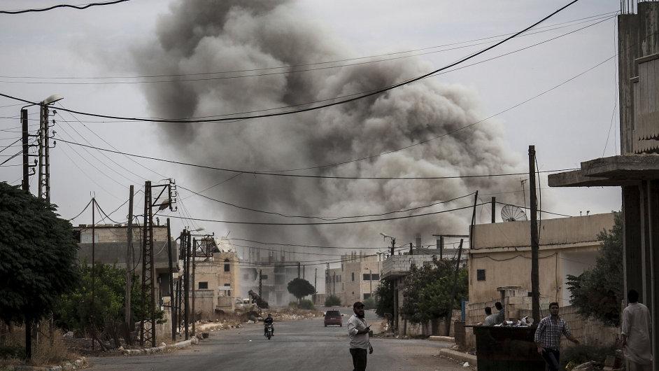 Boje v syrském Idlíbu