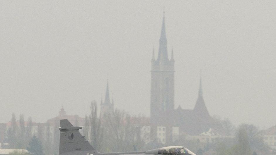 Stíhačky gripen v Čáslavi