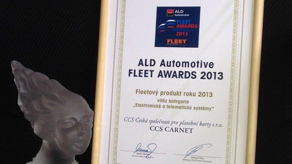 CCS Carnet je nejlepším elektronickým a telematickým fleetovým systémem pro rok 2013