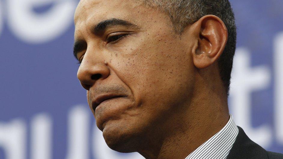Barack Obama na konferenci v Haagu.