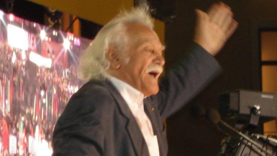 Manolis Glezos, jeden ze známých předáků levicového hnutí Syriza