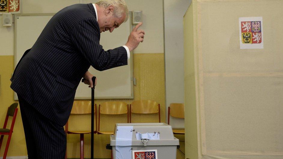 Prezident Miloš Zeman u voleb