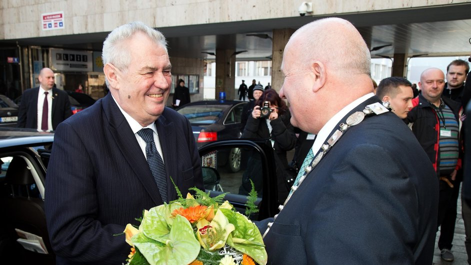 První den návštěvy prezidenta Miloše Zemana v Ústeckém kraji