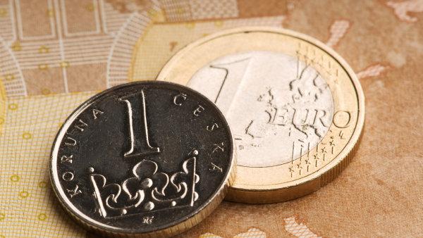V pátek dopoledne se česká měna dostala až k hranici 26,20 koruny za euro - Ilustrační foto.
