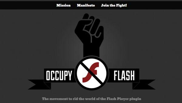 Logo hnutí Occupy Flash