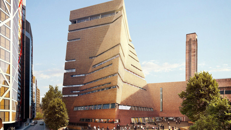 Vizualizace nové budovy galerie Tate Modern.