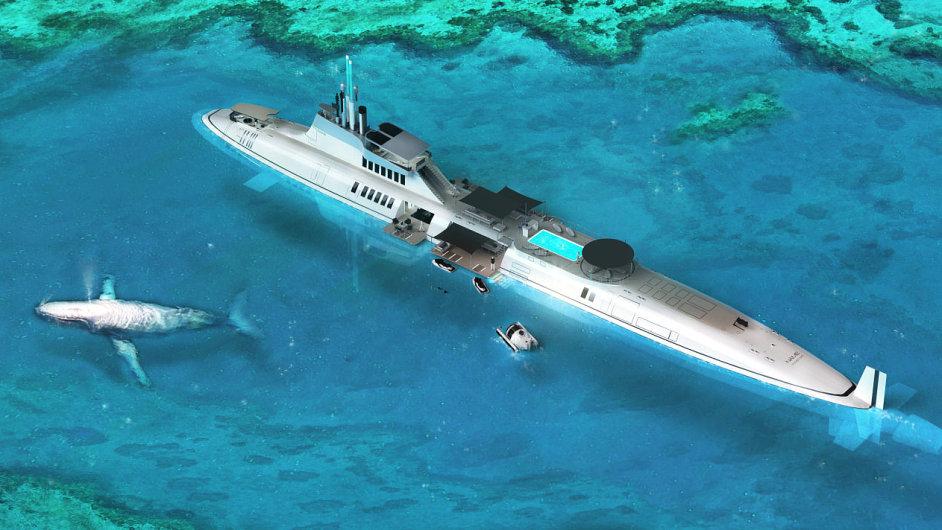 Luxusní ponorka Migaloo od firmy Motion Code:Blue.