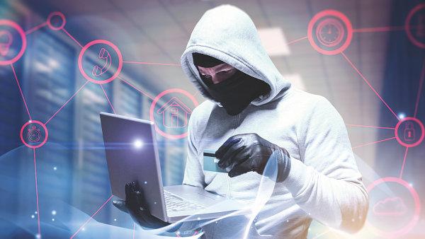 Kybernetický útok, hacker, ilustrace