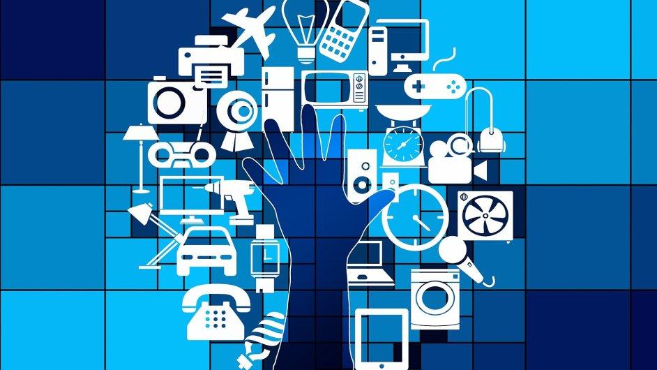 IoT, Internet věcí, ilustrace