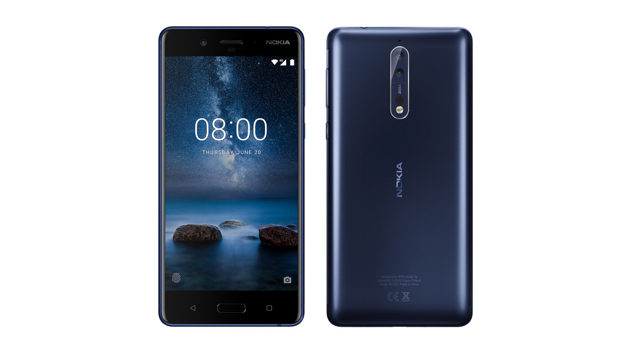 Nokia 8 s QHD obrazovkou a dvojitým fotoaparátem s optikou Carl Zeiss