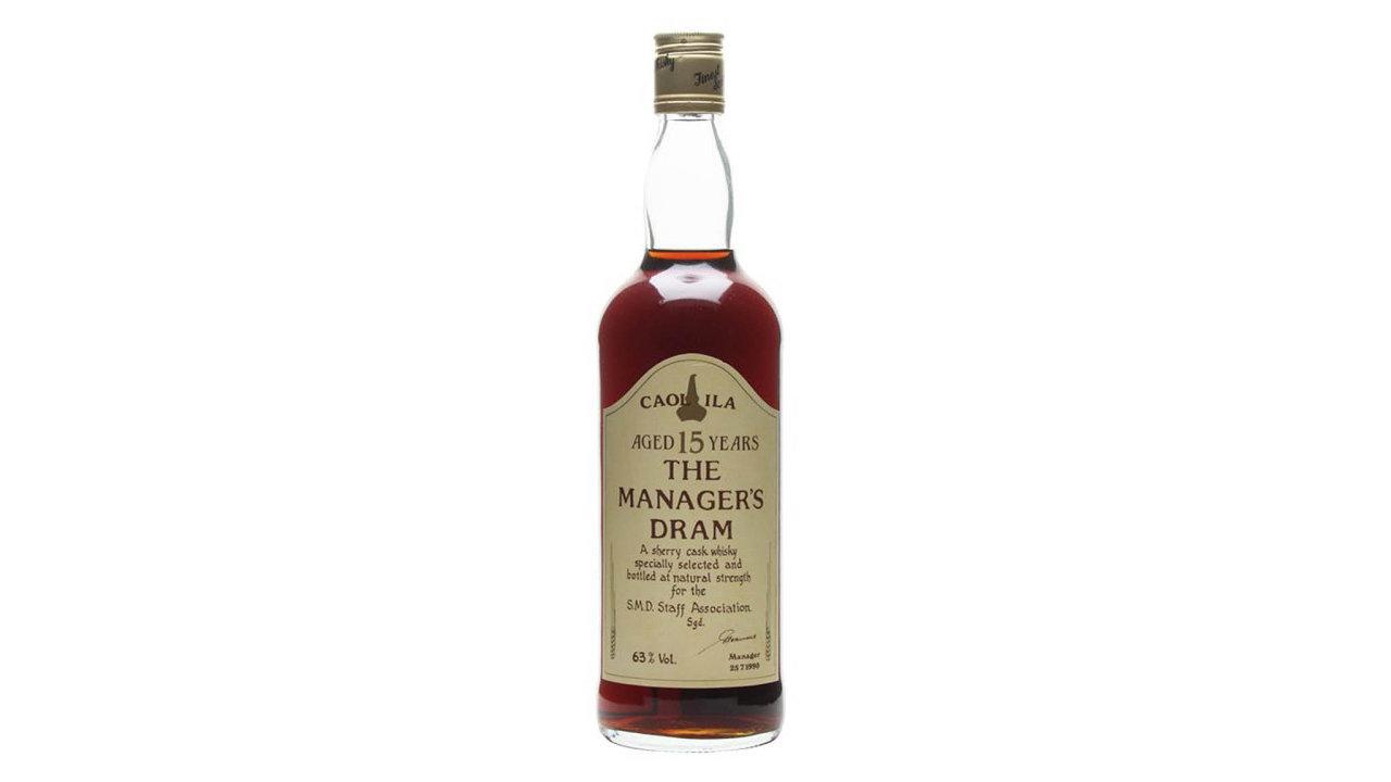 Patnáctiletá whisky Caol Ila Sherry Cask ze speciální edice Manager Dram se v roce 2008 prodala za 350 liber - dnes je její cena 3000 liber.