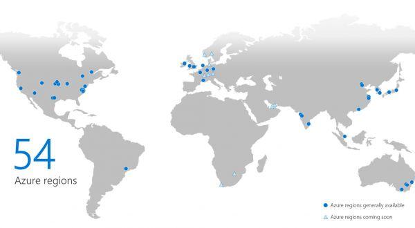 OMB Azure regions around world