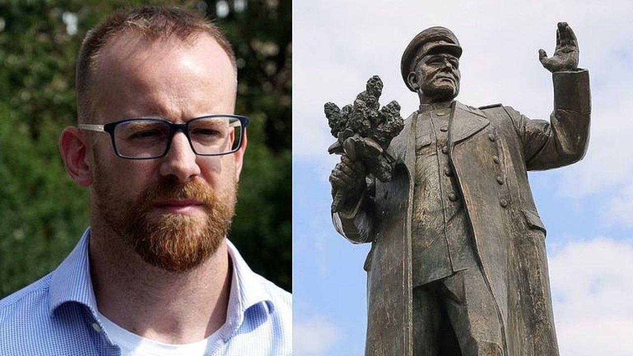 Sochu Koněva tu nechceme, má na rukou krev, Rusové si nemají co diktovat, říká Kolář.