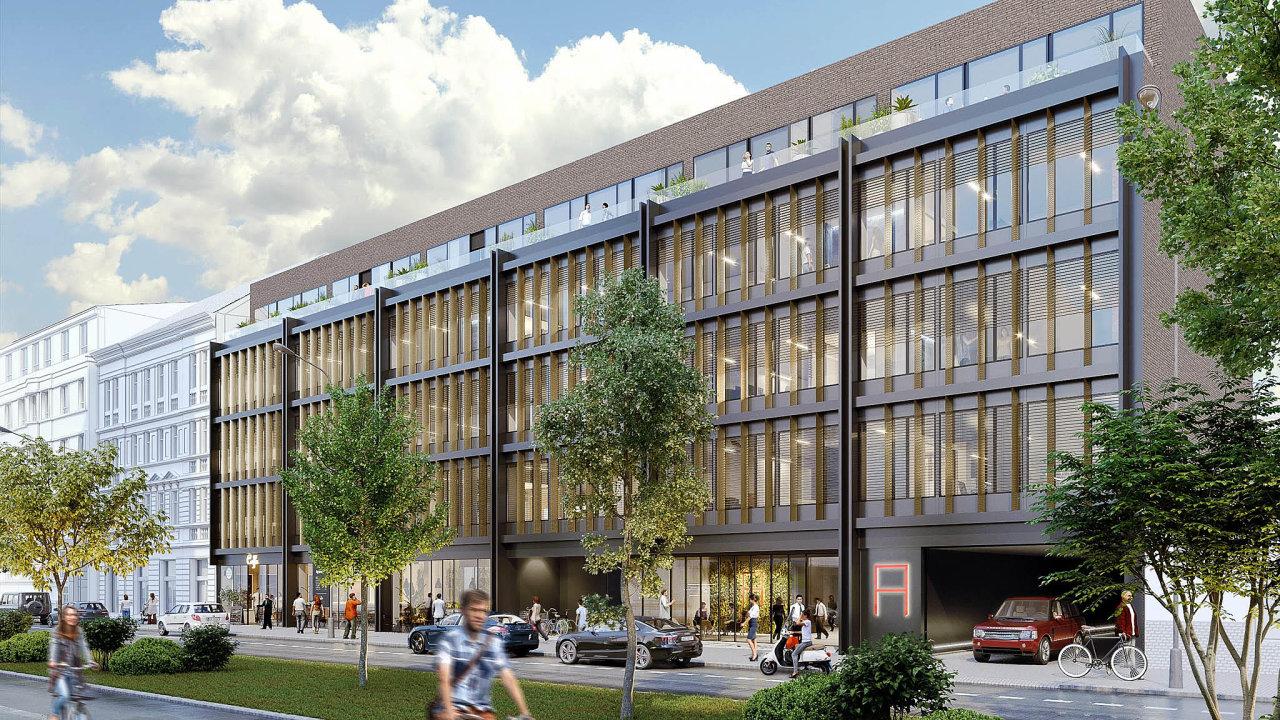 Bývalá továrna. Projekt Astrid Office vzniká vHolešovicích na místě bývalé továrny kosmetické značky Astrid.