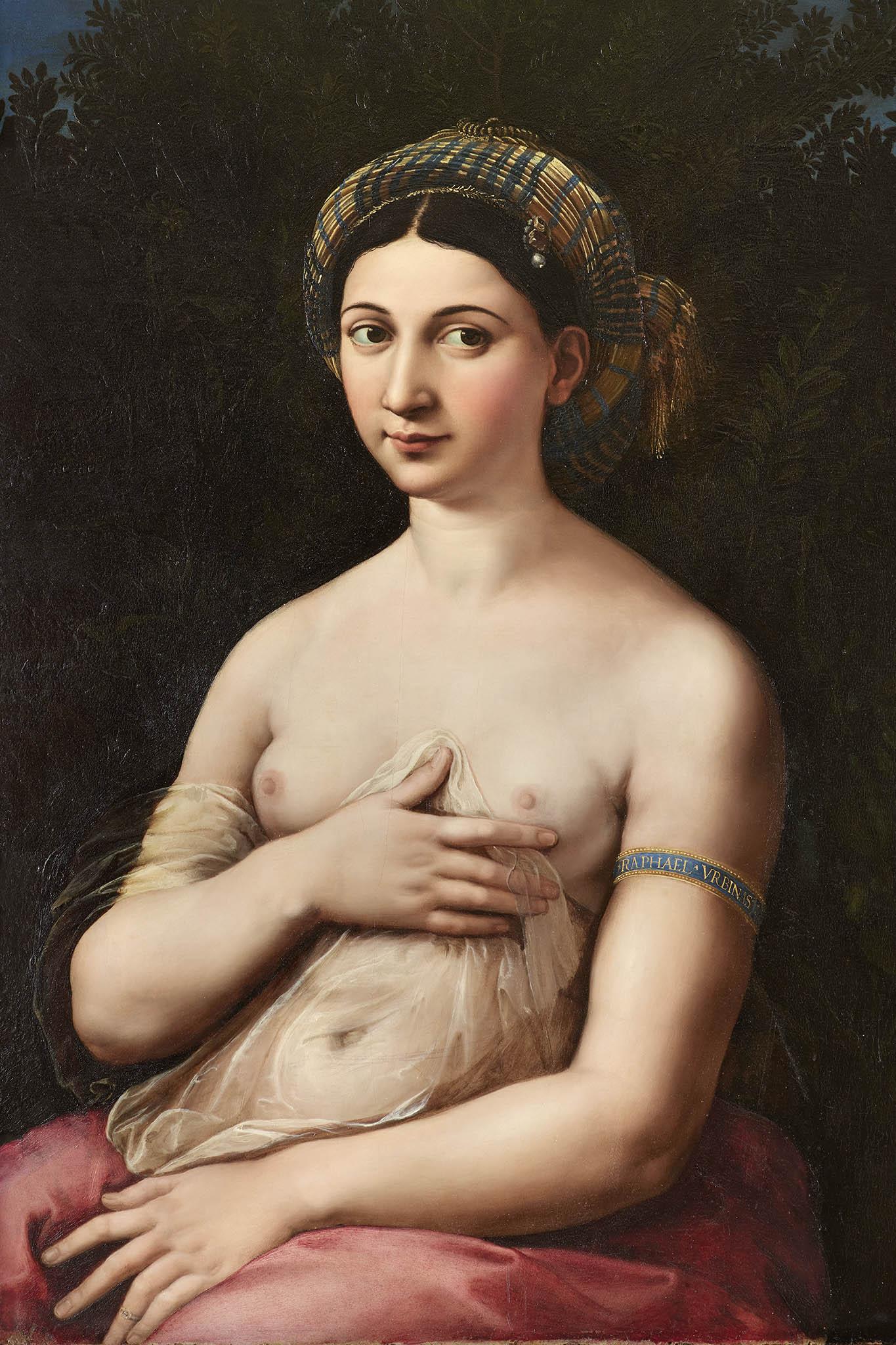 Raffael: Portrét ženy jako Venuše (Fornarina), 1519–1520