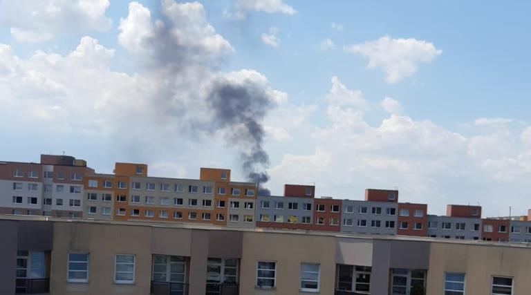 Požár ulice U Technoplynu