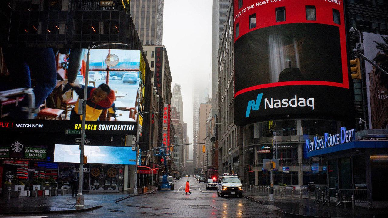 Index stovky největších firem natechnologické burze Nasdaq odzačátku roku vzrostl více než otřetinu.