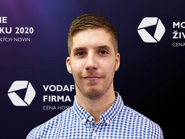 Jan Kokáš, jednatel společnosti WORKOUT CLUB PARKS, Vodafone Firma roku 2020 Moravskoslezského kraje