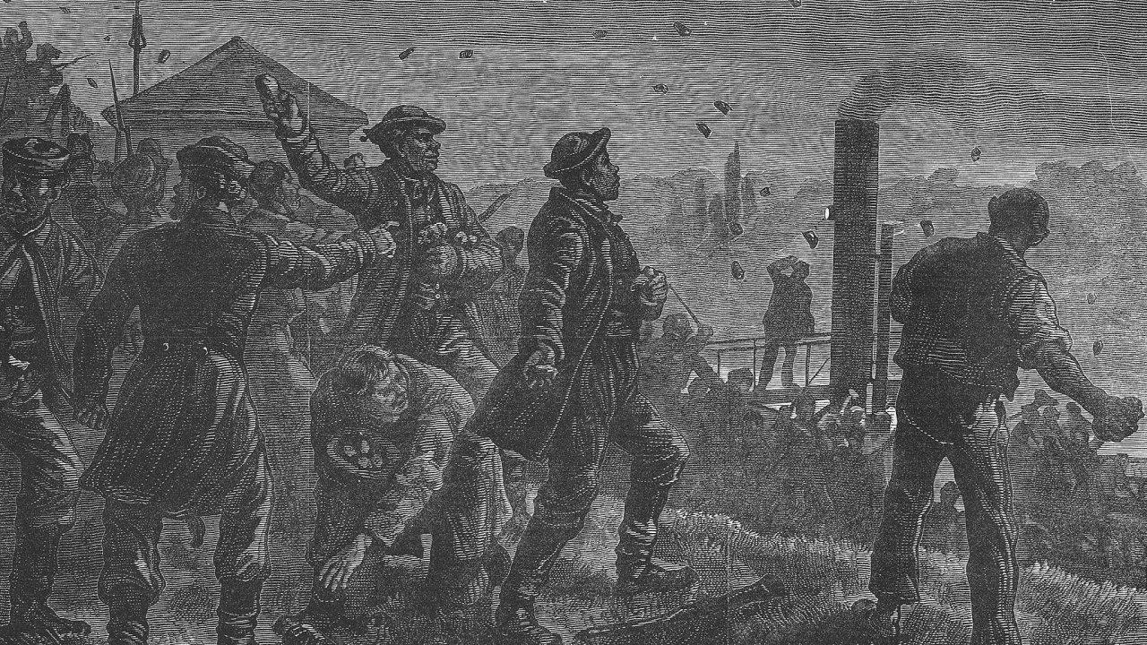 Světově proslulý útok. Dobový anglický list Illustrated London News referoval oudálostech vMalé Chuchli zroku 1881 jako onapadení německých studentů Slovany.