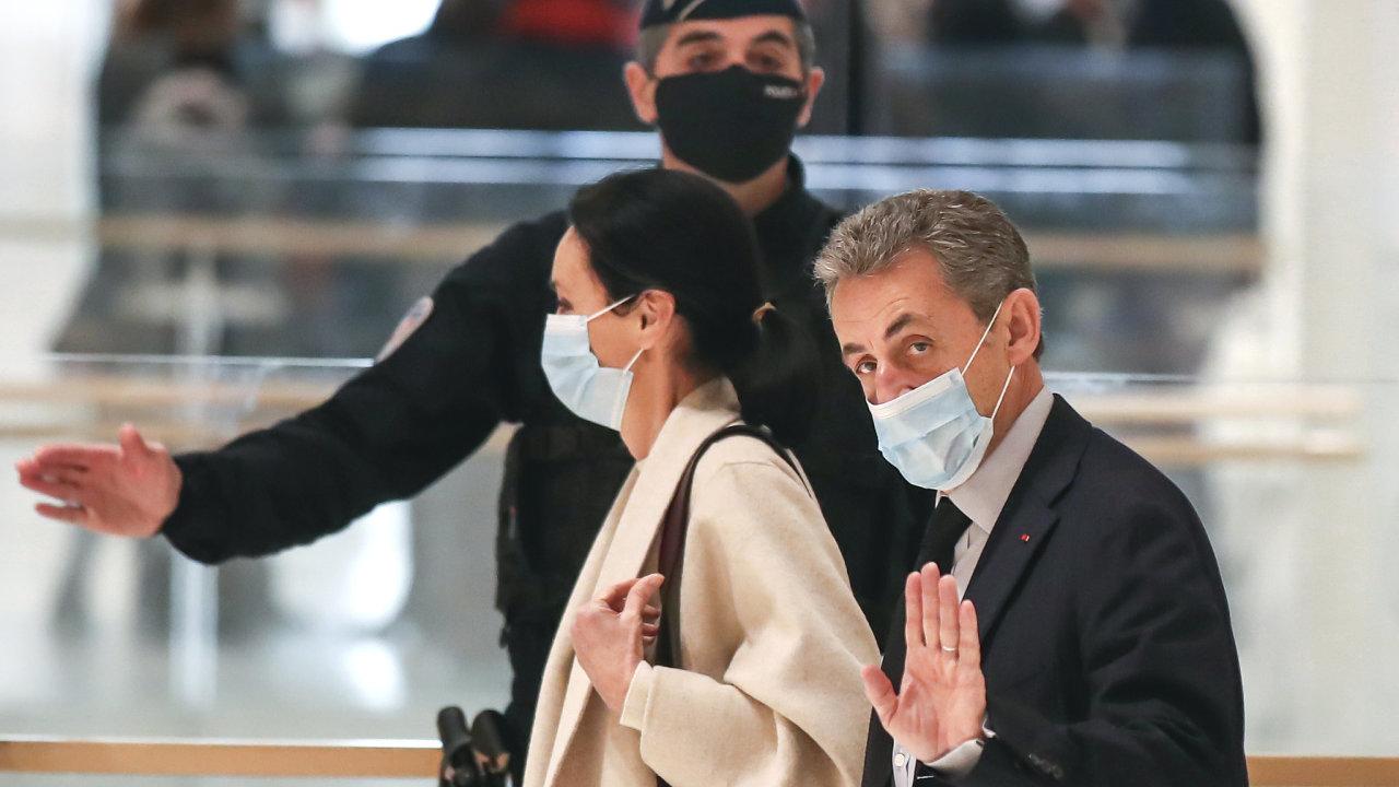 Nicolas Sarkozy u soudu.