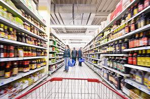 Potraviny v supermarketu - Ilustrační foto.