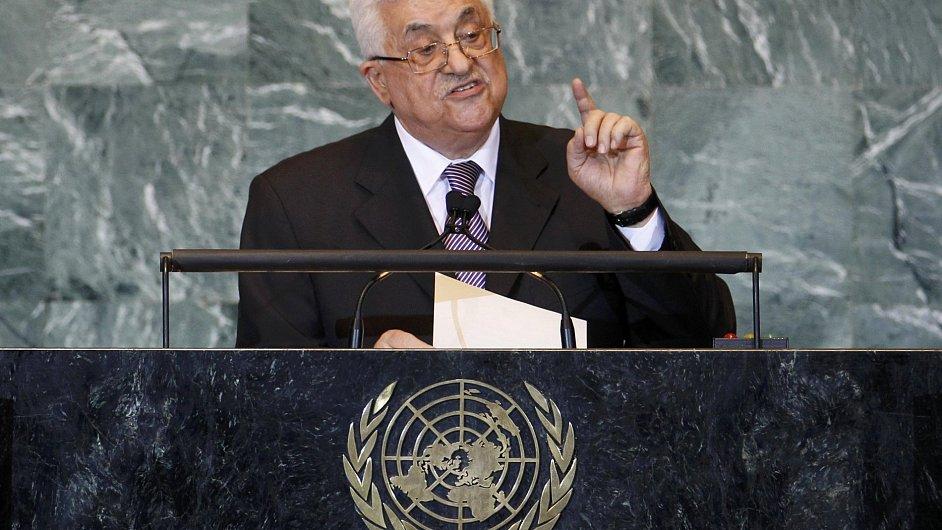 Mahmúd Abbás v proslovu před Valným shromážděním OSN