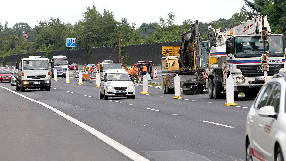 Opravy na dálnici D1, ilustrační foto.