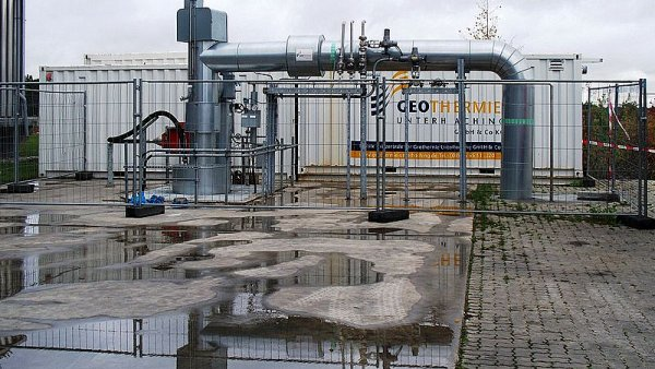 Geotermální elektrárna v německém Unterhachingu.
