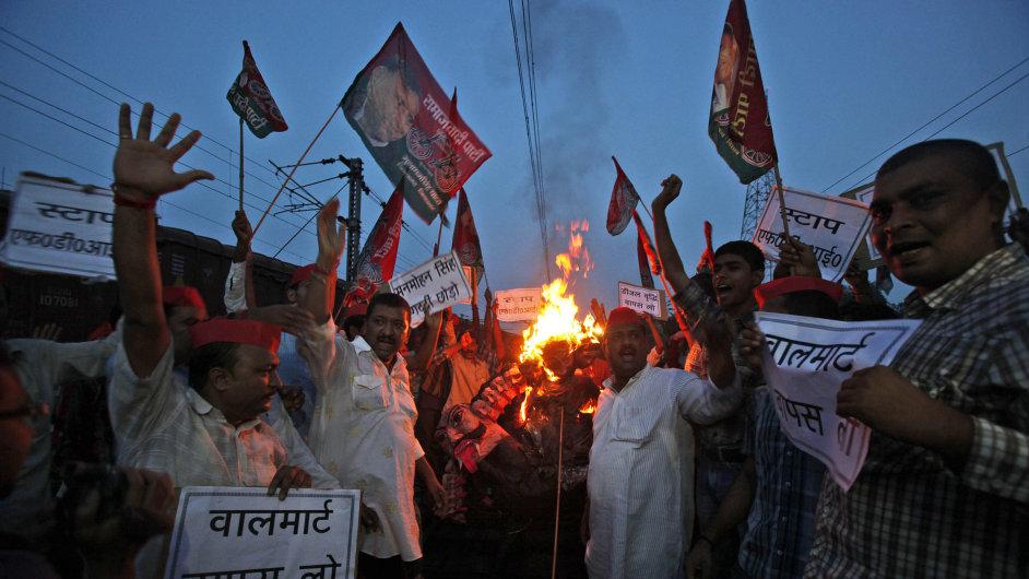 Protesty v Indii. Ilustrační foto.