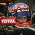 Romain Grosjean v kokpitu Lotusu p�i Velk� cen� Austr�lie