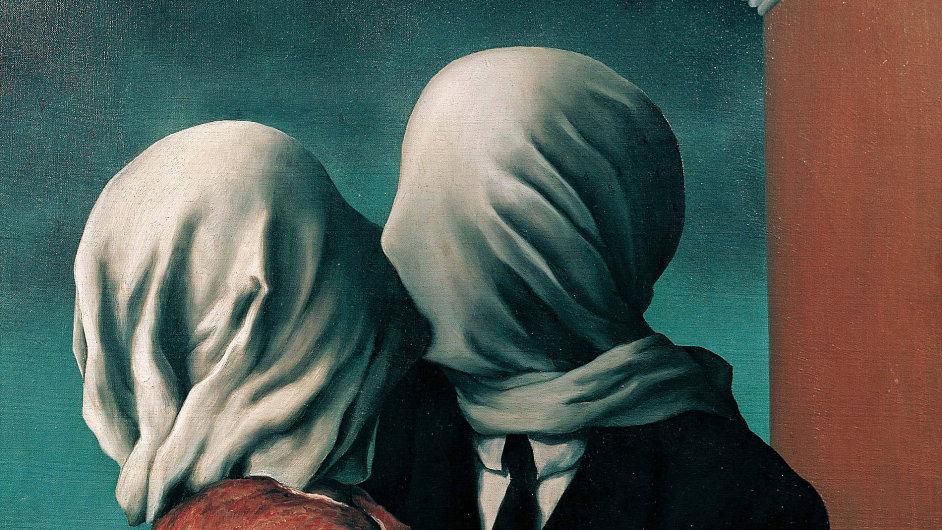 Festival spisovatelů pro letošní ročník používá obraz Reného Magritta nazvaný Milenci z roku 1928.