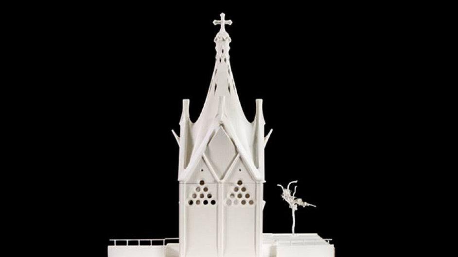 Model kaple Panny Marie Andělské, kterou pro chilské město Rancagua navrhl Antoni Gaudí