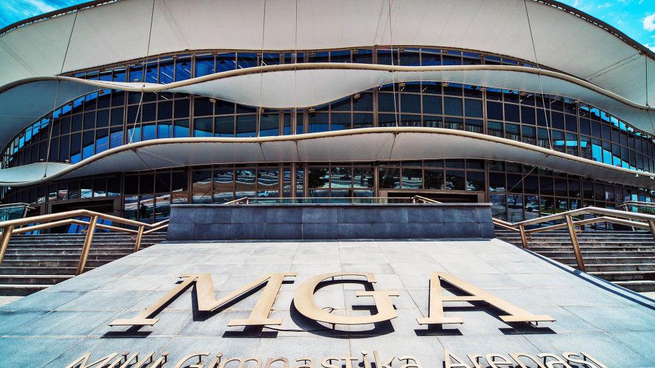 Gymnastická aréna v Baku s kapacitou až 10 tisíc diváků je jednou z pěti zcela nových hal vybudovaných kvůli Evropským hrám.