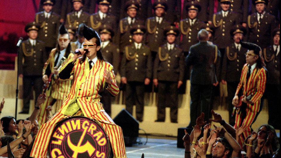 Leningradští kovbojové s Alexandrovci v první půli devadesátých let.